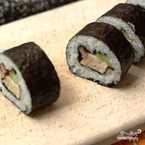 Футомаки с омлетом и шиитаке - фото шаг 11