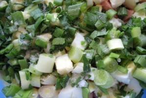 Салат из сосисок и яиц - фото шаг 4
