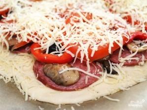 Пицца с тонким тестом - фото шаг 4