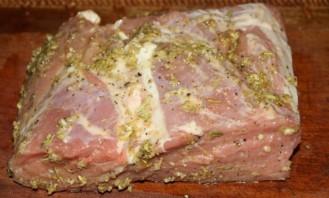 Тыква со свининой в духовке - фото шаг 2