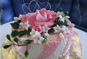 "Торт ""Цветы из мастики"" - фото шаг 6"