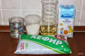 Рецепт блинов на кефире без яиц - фото шаг 1