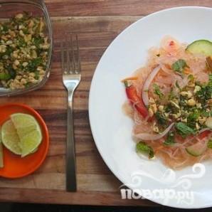 Вьетнамский салат из рисовой лапши с тофу - фото шаг 8
