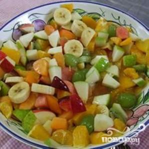 Простой фруктовый салат - фото шаг 5