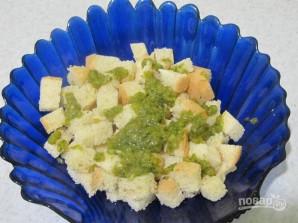 Луковые сухарики к салатам и супам - фото шаг 4