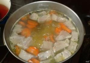 Суп со свининой без картошки - фото шаг 3