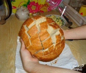 Хлеб с сыром в духовке - фото шаг 1