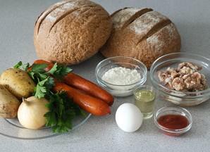 Ирландский суп в хлебе - фото шаг 1