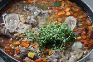 Суп из чечевицы с копченостями - фото шаг 3