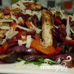 Салат из шпината на гриле - фото шаг 8
