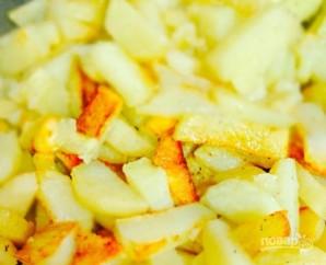 Жареная картошка с грибами (шампиньонами) - фото шаг 5