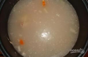 Сырный суп со свининой в мультиварке - фото шаг 4