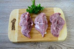 Свиные кармашки с грибами и сыром - фото шаг 4