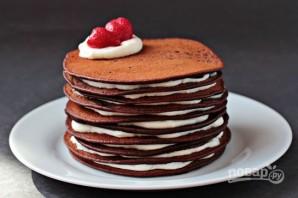 Торт из шоколадных блинчиков - фото шаг 6