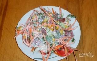 Салат из корейской моркови - фото шаг 5