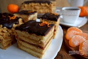 Медовое пирожное с начинкой - фото шаг 16
