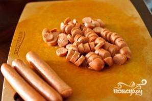Окрошка с сосисками - фото шаг 2