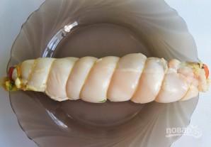 Куриный рулет с сыром и зеленью - фото шаг 4