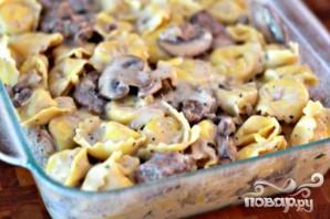 Колбаса с грибами и тортеллини - фото шаг 6