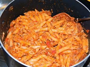 Макароны в духовке с мясом - фото шаг 4