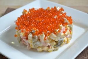 Салат с креветками и икрой - фото шаг 5