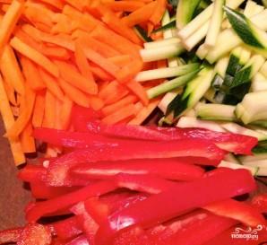 Креветки с овощами - фото шаг 1