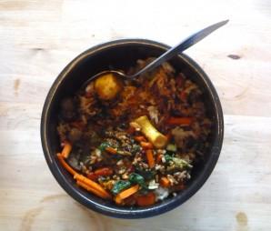 Салат с корейской морковкой и курицей - фото шаг 2