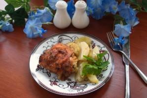 Окорочка в духовке с картошкой - фото шаг 4