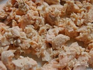 Салат из горбуши с рисом - фото шаг 3