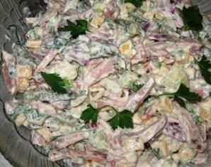 Салат с твердым сыром - фото шаг 3