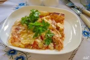 Пицца из бездрожжевого теста в духовке - фото шаг 7