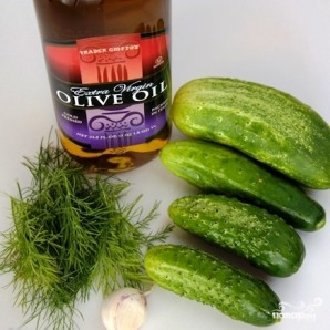 Салат из огурцов - фото шаг 1