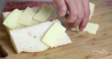 Гренки сырные - фото шаг 2