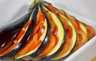 Баклажаны запеченные с овощами - фото шаг 8