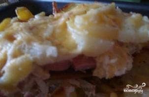 Картофельная запеканка с сосисками и сыром - фото шаг 15