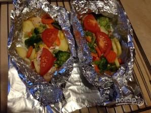 Лосось в духовке с овощами - фото шаг 8