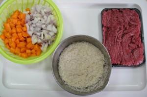 Рис с фаршем и морковью - фото шаг 1