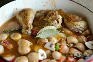 Тушёная курица с овощами - фото шаг 10