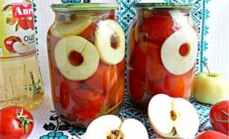 Консервированные помидоры с яблоками - фото шаг 5