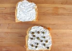 Сэндвич с семгой  - фото шаг 4
