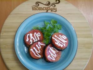 Жареные баклажаны с помидорами и чесноком - фото шаг 9