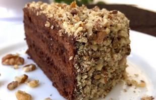 Шоколадно-ореховый торт (обалденный!) - фото шаг 6