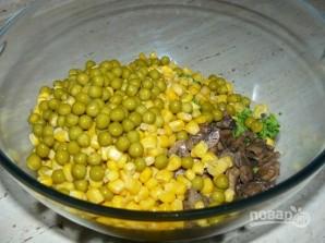 Салат с шампиньонами жареными - фото шаг 4