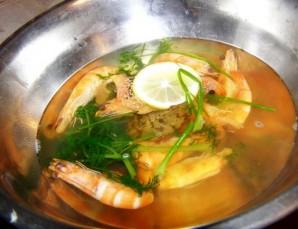 Жареные креветки в чесночном соусе - фото шаг 3