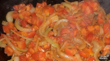 Картошка со свининой и помидорами - фото шаг 5