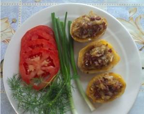 Картошка с колбасой в духовке - фото шаг 5