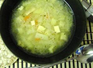 Суп с копченым сыром - фото шаг 7