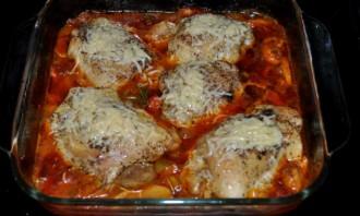 Курица кусочками с овощами в духовке - фото шаг 4