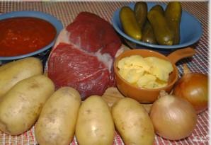 Мясо по-татарски - фото шаг 1