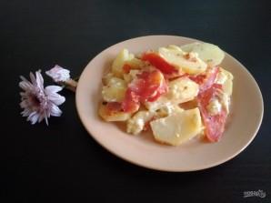 Картофель с помидорами слоями в мультиварке - фото шаг 6